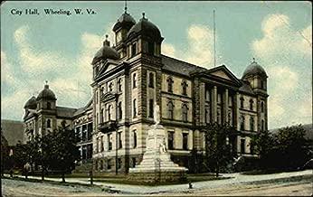City Hall Wheeling, West Virginia Original Vintage Postcard