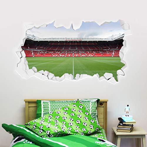 Beautiful Game Manchester United Football Club Official Broken Wall Old...