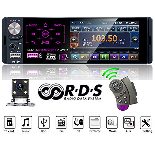 PolarLander Autoradio 1 DIN Autoradio 4,1 Zoll Touchscreen Auto Stereo Multimedia MP5 Player Bluetooth RDS Dual USB Support Mikrofon