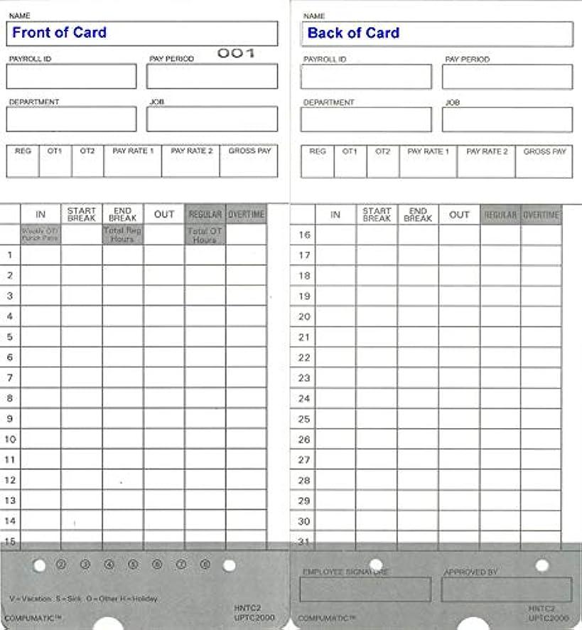 宣言安全でない鉛時間カードfor uPunch hn4000?/hn4500?Fitsすべてhn2000?/hn4000?/hn4500?/hn6000時間時計およびバンドル(Fits元とグレーシリーズ時計) 交換用for uPunch hntc2050?/hntc2100 300 Cards