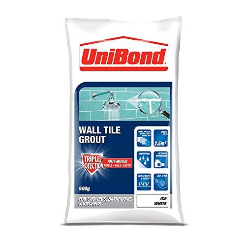 UniBond 1634293 Triple Protect Anti-mould Wall Tile Grout - 500 g, White