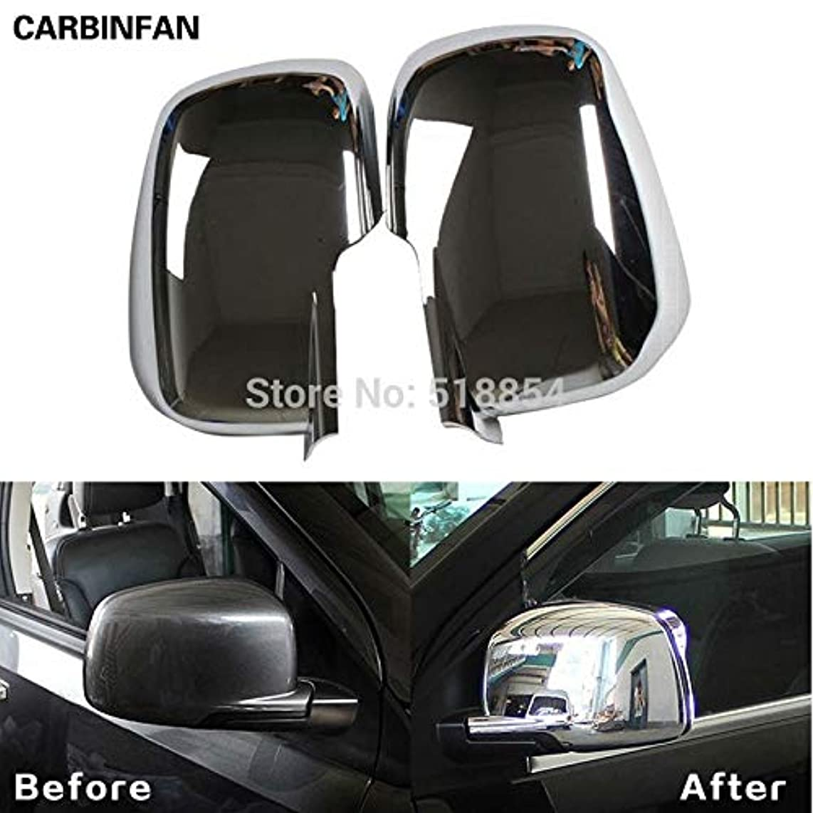 Exterior Parts Ytn Abs Chrome Side Mirror Cover Trim Molding Exterior 2Pcs/Set For 2012 2013 Fiat Freemont 12 13