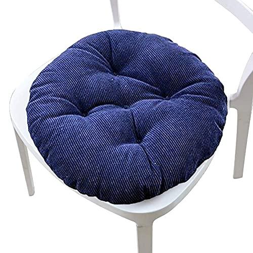CIN&GO Cojín para Silla de Patio Cojín Redondo para Silla de Comedor Tatami Cojín de Pana de Tela para sofá Simple Diario para el hogar