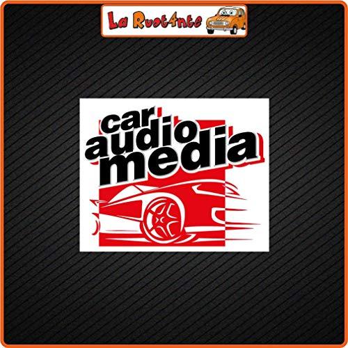 La Ruotante 2 Sticker Car Audio Media (Vinyl) Auto Motorfiets Vespa Fietshelm koffer 6x5 Cm