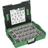 SPAX L-Boxx 500009165019 Mallette de montage en acier inoxydable A2 T-STAR Plus Tête fraisée 17 dimensions 1070 pièces avec embouts Spax