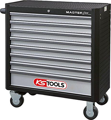 KS Tools 878.0008 MASTERline Werkstattwagen mit 8 Schubladen XL,schwarz/silber