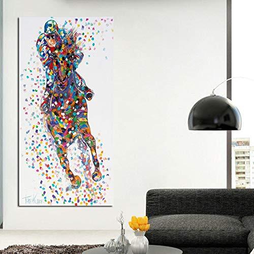 Leinwanddrucke Ritter und Pferd onpictures Plakat und dekorative Kunst für Wohnzimmer60x120cmRahmenlose Malerei