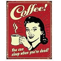 1pcぼろぼろのシックなコーヒーヴィンテージメタルティンサインカフェティーデザートカスタムメタルポスターキッチンバーパブの装飾レトロなウォールステッカー-20x30cm