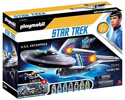 PLAYMOBIL Star Trek 70548 U.S.S. Enterprise NCC-1701, Con aplicación AR, efectos de luz y sonidos originales, De 5 a 99 años