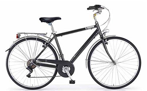 MBM C E N T R A L, Bici da Trekking Uomo, Grigio Titanio A27, 50
