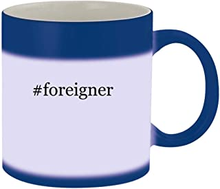 #foreigner - Ceramic Hashtag Blue Color Changing Mug, Blue