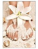 Poster Summer Pediküre Fusspflege DIN A3 Nagelstudio