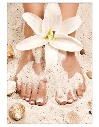 Poster Summer Pediküre Fusspflege DIN A3 Nagelstudio Nageldesign Nailart Wandgestaltung Kosmetik Nails 29,7x42,0cm