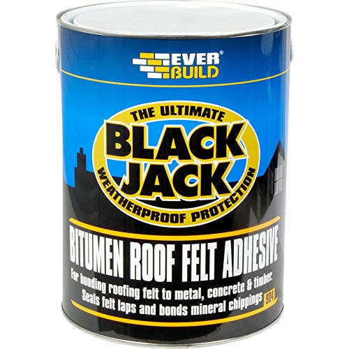904 Roof Felt Adhesive - Cold applied adhesive to bond roofing felt to most surfaces - 2,5L - Black