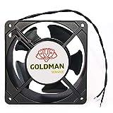 Ventilador fan Axial de refrigeración 120 x 120 x 38 mm. Extractor de aire caliente para enfriamiento de flujo y disipación...
