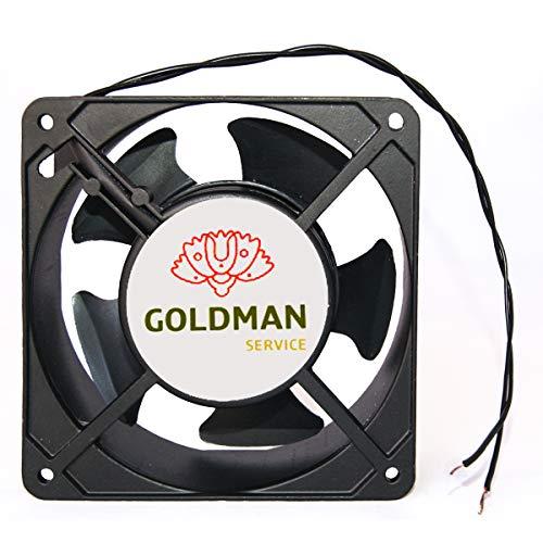 Ventilador fan Axial de refrigeración 120 x 120 x 38 mm. Extractor de aire caliente para enfriamiento de flujo y disipación del calor de máquinas y circulación de aire.