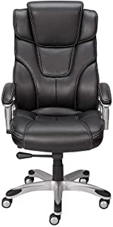 Staples 937975 Baird Bonded Leather Managers Chair Black