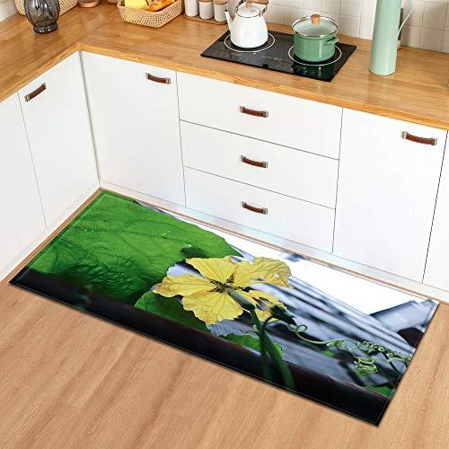 Alfombra en el baño Hogar Sala de Estar Cocina Alfombra Planta Flores Patrón Entrada Felpudo Dormitorio Pasillo Alfombra A12 50x80cm