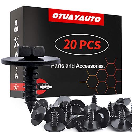 OTUAYAUTO M4.8-1.61 x 16mm Hex Head Screw Bumper Cover for Engine Shields Splash Guard - BMW E90 E83 E82 E71 E70 E66 E63 E60 E46 - Replace OEM# 07147129160, 07-14-7-129-160, 20Pcs