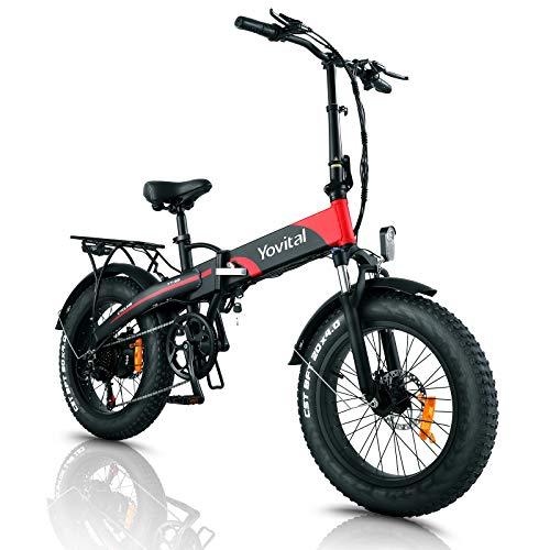 "Yovital Electric Bike for Adults 20"" Fat Tire Electric..."