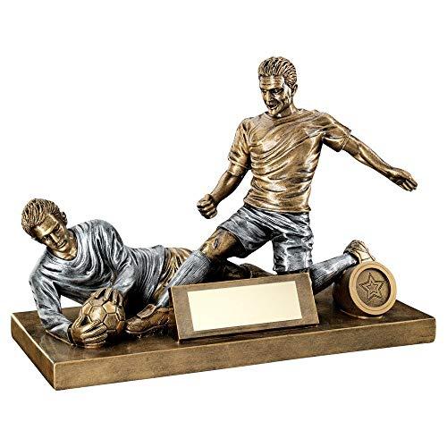 Lapal Dimension BRZ/Pew - Figura de fútbol Masculino y Trofeo de Portero (Centro de 1 Pulgada), 19 x 27 cm