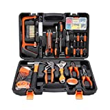 COLMAX 100PCS Home Improvement Tool Kit, Household repairing Mixed Tool Set, with Plastic Blow Molded Tool Box Storage Case,Daily Use