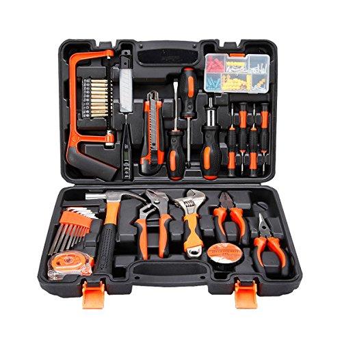 COLMAX 100PCS Home Improvement Tool Kit, Household repairing Mixed Tool Set