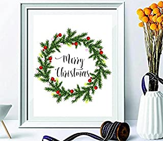 merry Christmas wall art holiday print Christmas gifts holiday art decor Christmas wall decor Xmas quote printable calligraphy print#WP-58