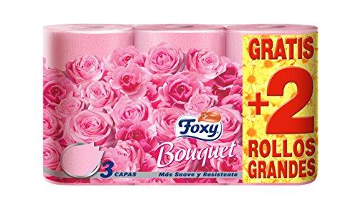 FOXY Bouquet - Carta igienica 3 veli, Confezione da 6 rotoli