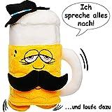 alles-meine.de GmbH NACH sprechender Bierkrug - Ich spreche nach & laufe dazu - aus Stoff / Plüsch...