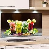 GRAZDesign Rückwand Küche Bar - Küchen Spritzschutz Herd Cocktail - Küchenrückwand Glas Cocktailbar / 80x60cm
