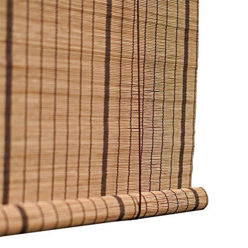 Bambusrollo- Braun Raffrollo Bambus-Roll-Up Jalousie Indoor Fenster Sichtschutz Rollos Sonnenschutz 60% (Alle Größen: 45-130 cm breit und 80-200 cm hoch) (größe : 100x140cm)