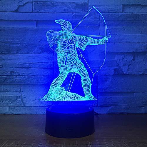 JYHW Forma de la flecha en forma de arco Lámpara 3D Decoración para el hogar 7 Cambio de color Led Nightside Shooter Luz de la noche para niños Regalos Sleep Light Fixture