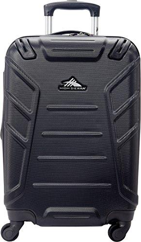 High Sierra Rocshell Hardside Spinner Luggage, Black, Carry-On 20-Inch