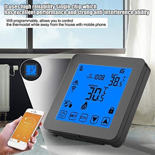 Wifi thermostaat verwarming programmeerbaar met LCD-display touchscreen bediening met mobiele telefoon