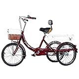 ZFF Tres Adultos Triciclos Trike Rueda De 20 Pulgadas Triciclo De...