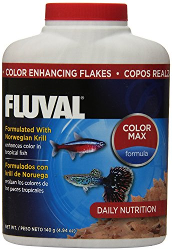 Fluval Color Enhancing Flakes Fish Food, 4.94-Ounce, 140gm