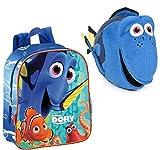 Nemo: Pack Mochila Buscando A Dory de 28 cm (28x24x10 cm) + Peluche Buscando A Dory, Dory, 30 CM.
