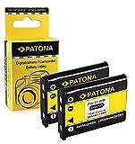 PATONA 2x Bateria compatible con Olympus Li-40B / Li-42B | Nikon EN-EL10 | Fuji NP-45 | Pentax D-Li63 | Kodak Klic-7006 | Casio NP-80