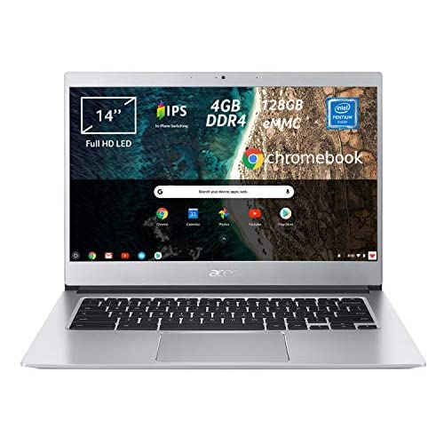 Acer Chromebook 514 CB514-1H-P9AS Notebook, PC Portatile, Processore Intel Pentium Quad-Core N4200, Ram 4GB DDR4, eMMC 128 GB, Display 14