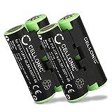 CELLONIC 2X Batería Premium Compatible con Garmin Striker 4 Oregon 600 600t, 650 650t 700 750 750t GPSMAP 64s Alpha 50 Atemos 50 Astro 430 320, 010-11874-00,361-00071-00 2000mAh Pila Repuesto bateria
