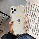 Coque De Téléphone Antichoc Double Couche Transparente pour Iphone 11 Pro X XR XS Max 8 7 Plus Lettre De Bouteille De Banane Couverture Arrière en TPU Souple