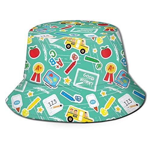 Sombrero Días Escolares Gorra para el Sol Sombrero para Exteriores Protección Solar UV Sombrero de Cubo Plegable Ligero Transpirable Unisex Negro