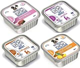 Monge Special Dog Excellence ADULT Mangime Umido per Cani, Mix Pack, Anatra, Selvaggina, Maiale, Pollo - Pacco da 8 x 150gr