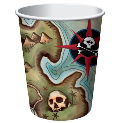 Creative Party Carte Pirates Papier Cups (Lot de 8)