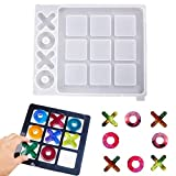 Tic Tac Toe Game Board Resin Mold, Silicone Epoxy Resin Casting Mold, XO Classic Family Games, DIY Crafts, Children's Adult Coffee Table Games, Home Decorations, Handmade Gifts
