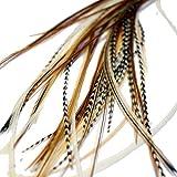 Extensiones de pelo de plumas reales...