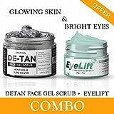 De carbón de leña-Tan Exfoliante facial y Eyelift Bajo el ojo Crema Gel Combo