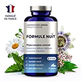 FORMULE NUIT | Complément alimentaire pour dormir | 1.9mg Mélatonine + phyto-complexe 100% naturel : Valériane,...