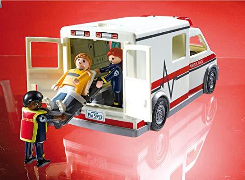 Ambulance Playmobil Secours - 5681 Ambulanciers et Patient Blessé - 1